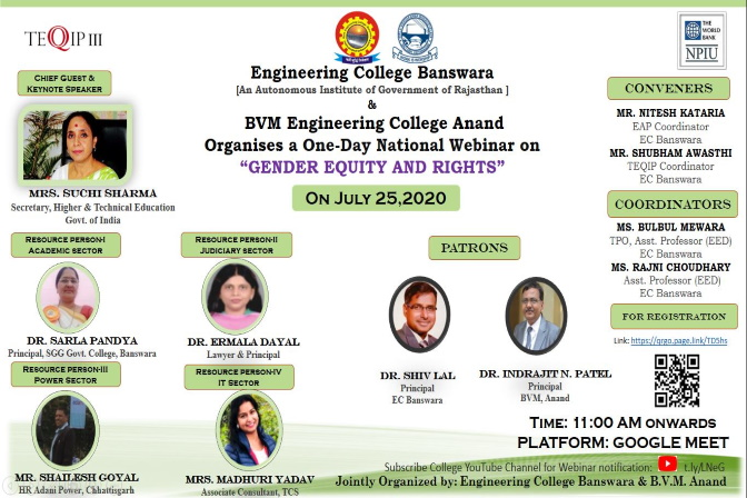 Gender Equity & Rights - July 25,2020 Engineering College Banswara